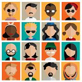 pic of reggae  - Diversity Interracial Community People Flat Design Icons Concept - JPG