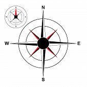 stock photo of compass rose  - compass  - JPG