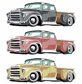 picture of muscle-car  - Vector Cartoon Retro Pickup - JPG