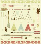 image of tent  - Teepee Tents and arrows collection  - JPG