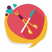 picture of surgical instruments  - Surgical Instrument Flat Icon With Long Shadow - JPG