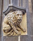 pic of bavaria  - lion sculpture close up Munich Bavaria Germany - JPG