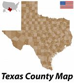 pic of texas map  - A large and detailed map of the State of Texas with all counties and county seats - JPG