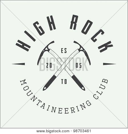 Vintage Mountaineering Logo, Badge Or Emblem.