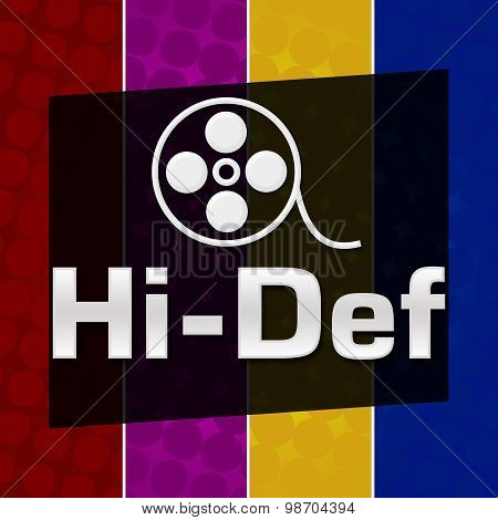 Hi-Def Colorful Halftone Background
