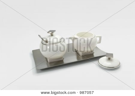 Coffee Set For Sugar And Milk