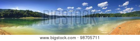 Panoramic View Of The Shore Of Solina Lake