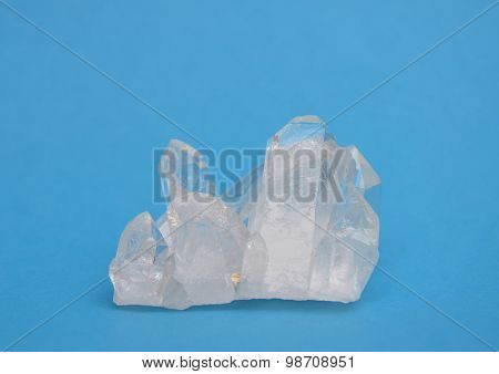 Rock Crystal On Blue