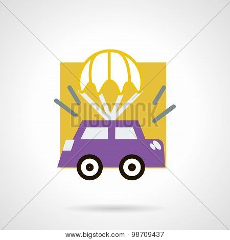 Car insurance concept flat vector icon
