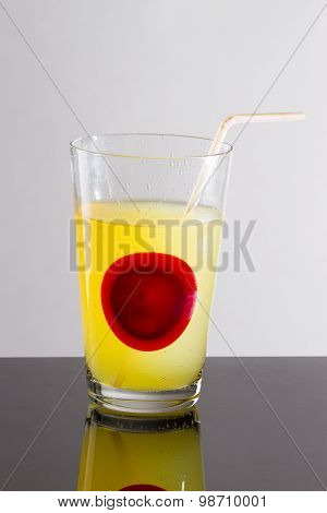 Transparent Glass With Juice Yellow