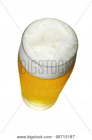 Glass Of Beer Top View