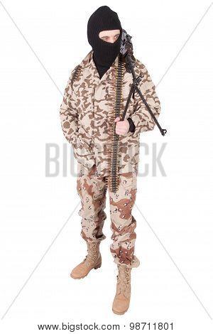 Mercenary With Rpd Gun