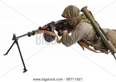 Shooter With Machine Gun