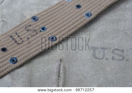 Us Army Uniform With Blank Dog Tags