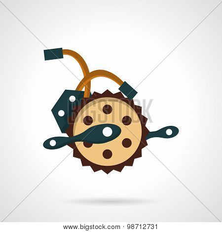 Bike crank flat vector icon