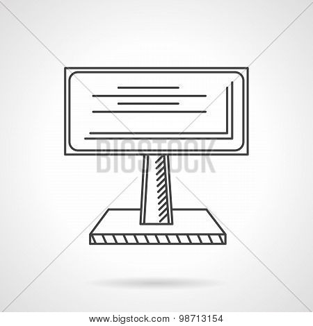 Advertising billboard line vector icon