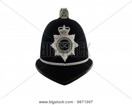 A Traditional British Police Helmet
