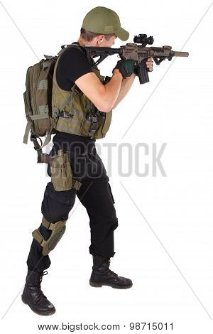 Rifleman With M4 Carbine