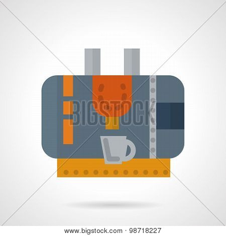 Coffee machine abstract flat vector icon