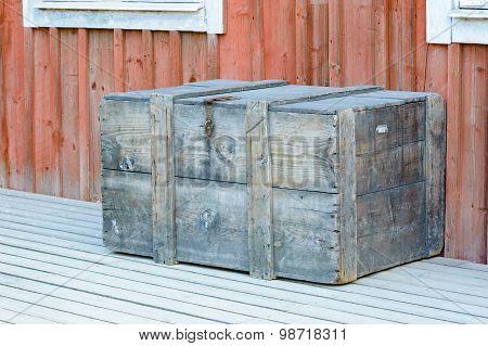 Wooden Box Outside House
