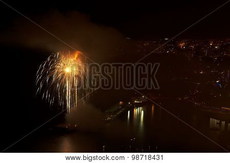 Fireworks in Funchal, Madeira Island, Portugal