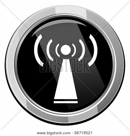 Wifi Symbol Icon On White Background