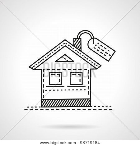Housing abstract line vector icon