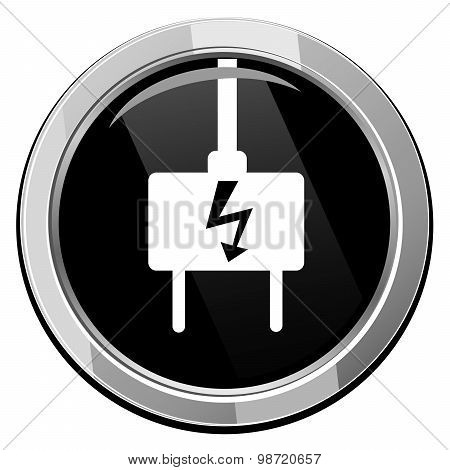 Electric Plug - Vector Icon Isolated