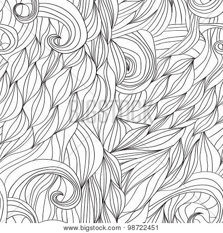 hair waves abstract background