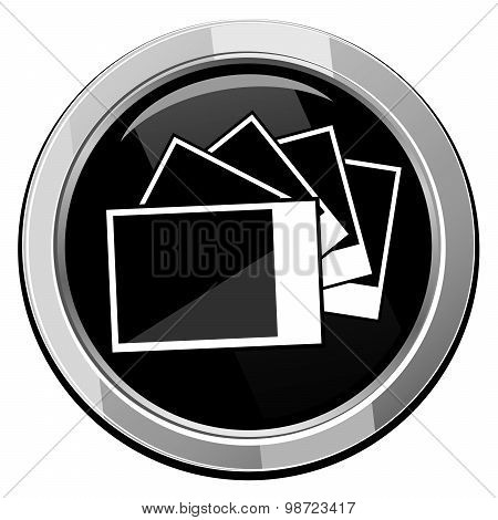 Photographs Pictures - Vector Icon Isolated