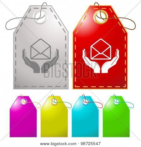 protection of mail. Vector tags.