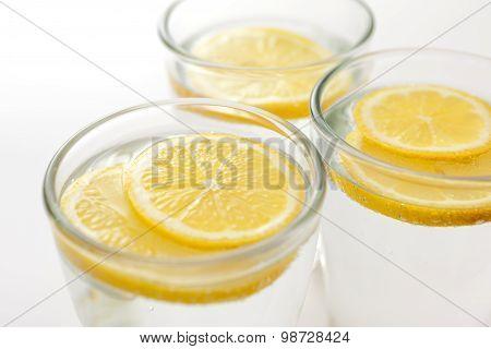 Sliced Lemon In Water
