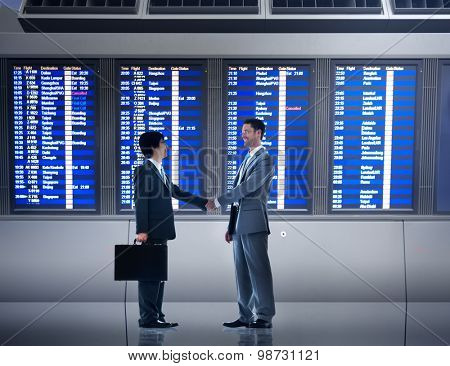 Businessmen Airport Business Commitment Deal Concept
