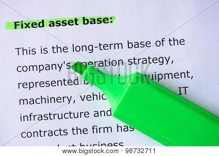 Fixed Asset Base