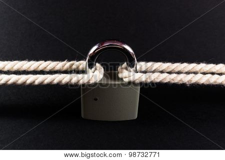 Security Lock Securing Rope Together