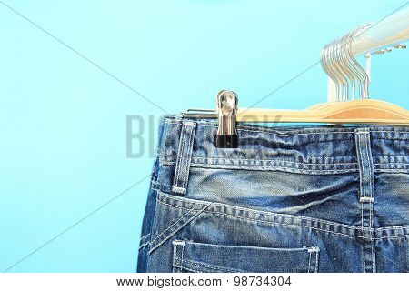 Close-up Of Jeans On A Rack