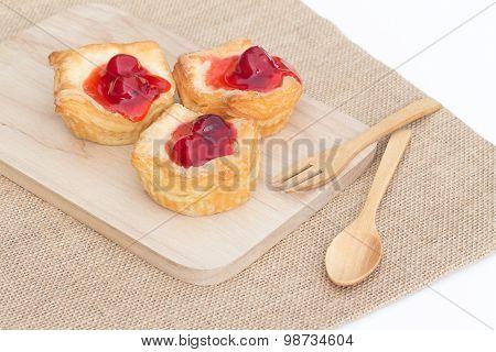 Fresh Fruit Pie Tart With Cherry