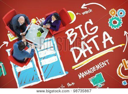Big Data Storage Online Technology Database Concept