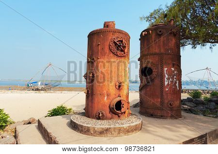 Old Steam Boilers Of The Cranes