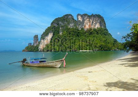 Beautiful landscape of Andaman sea, islands and beaches, Krabi, Thailand