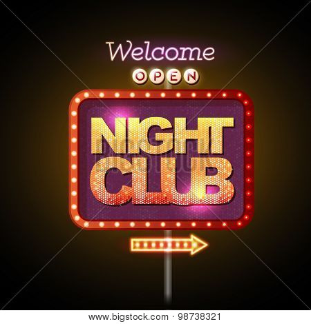 Neon Sign Night Club