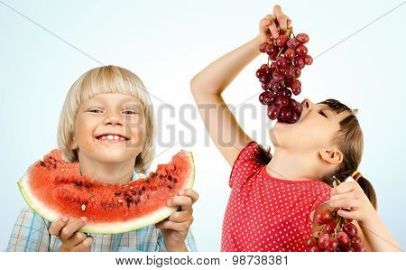 Children And Fruit