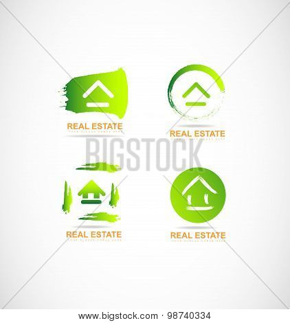 Real Estate Grunge Logo