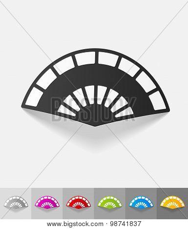 realistic design element. folding fan