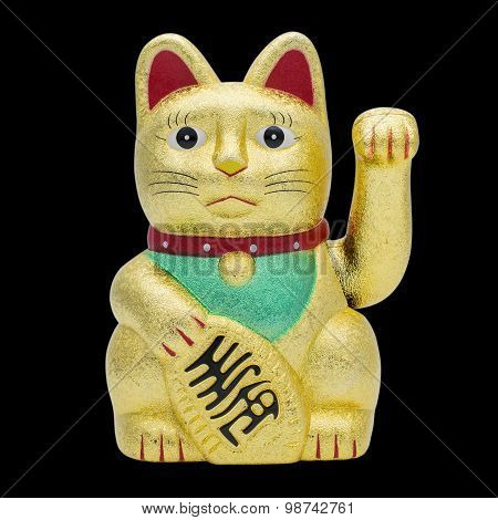 Isolated Fortune Or Lucky Cat