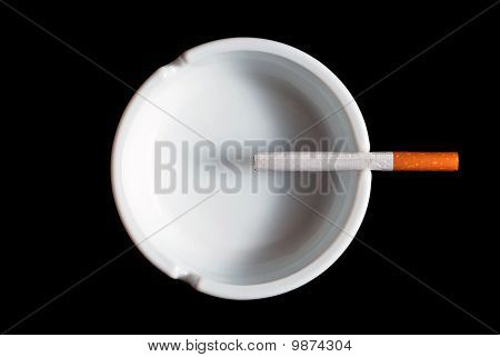 V1 Cigarette In The Ashtray