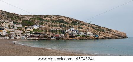 Matala Village, Crete, Greece