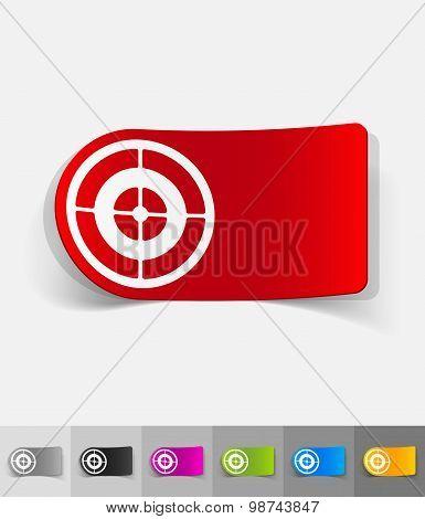 realistic design element. target