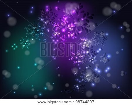 Whirlwind Of Snowflakes For Christmas. Eps10 Vector Illustration