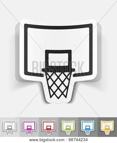 realistic design element. basketball hoop